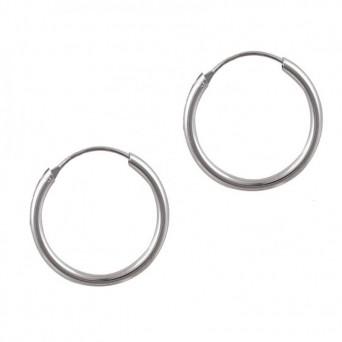 Jt Unisex σκουλαρίκια κρίκοιμικροί ασημένιοι 1.8cm