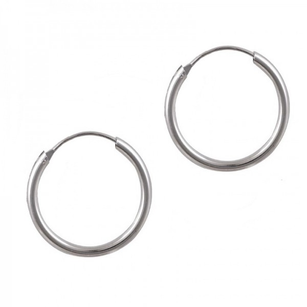 Jt Unisex silver small hoop earrings 1.8cm