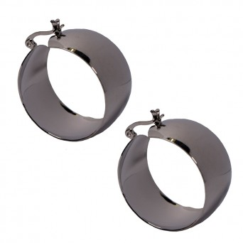 Jt Steel Hoop Earrings very thick 3cm