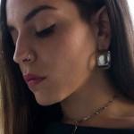 Jt Ατσάλινα σκουλαρίκια κρίκοι πολύ παχιοί 3cm