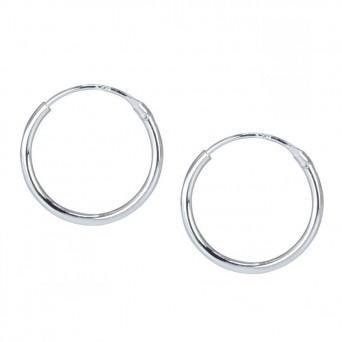 Jt Unisex σκουλαρίκια κρίκοιασημένιοι 2.5cm