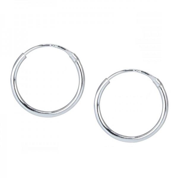 Jt Unisex silver hoop earrings 2.5cm