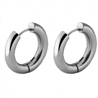 Jt Medium stainless steel hoop earrings 1.9cm