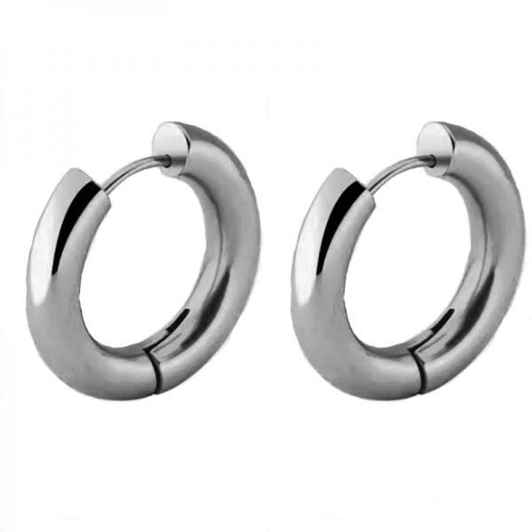 Jt Medium stainless steel hoop earrings 1.9cm