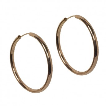 Jt Rose gold plated silver hoop earrings 4cm
