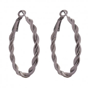 Jt Steel sinuous hoop earrings