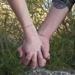 Jt Silver Infinity Macrame Couple Bracelet