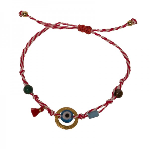 Jt Silver Infinity March Bracelet Red White Cord
