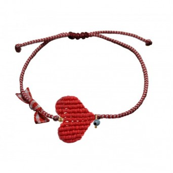 Jt Handmade red heart March bracelet