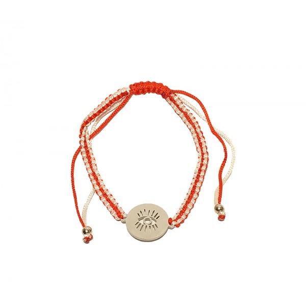 Jt Stainless Steel Coin Eye March Bracelet