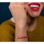 Jt Stainless Steel White Eye March Bracelet