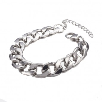 Jt Steel men's cuban style chain bracelet 0.9cm