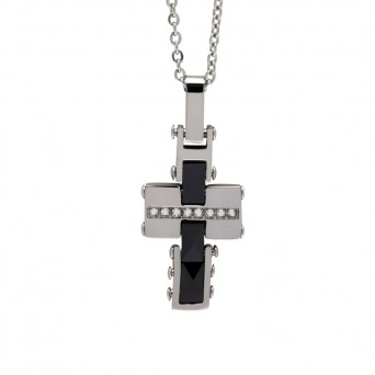SL Men`s stainless steel Cross Necklace