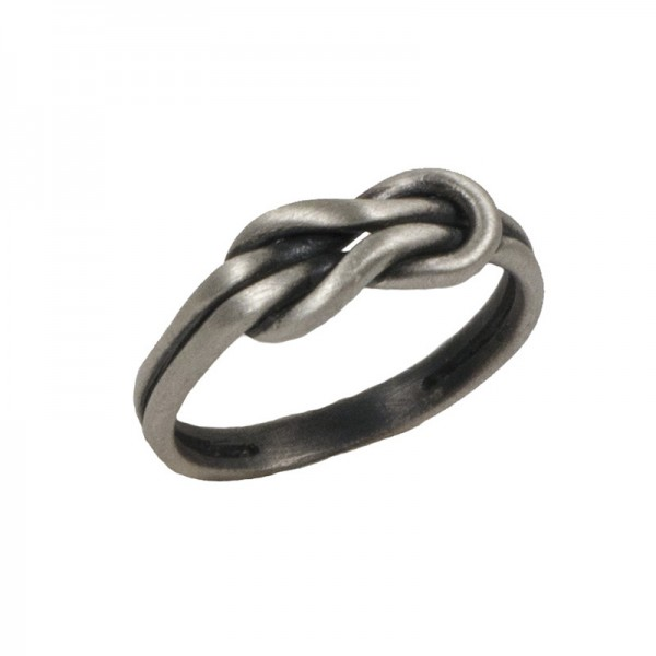Jt Silver men's byzantine ring with knot