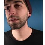 Jt Ατσάλινα unisex σκουλαρίκια κρίκοι μικροί μαύροι 1.4cm