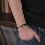 Aetoma Men's Sterling Silver Cross Bracelet