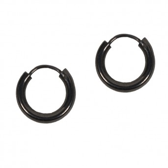 Jt Men's small silver hoop earrings 1cm