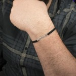 "Jt Silver men's ""Παππούς"" (""Grandpa"" in greek) bracelet"