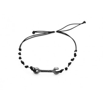 Jt Men`s Silver Macrame Wrench Bracelet