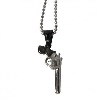 Jt Long men's steel gun necklace