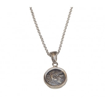 Jt Silver Coin Necklace Alexander The Great