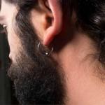 Jt Men's stainless steel clip on hoop earrings 1.5cm