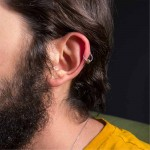 Jt Men's very small stainless steel clip on hoop earrings 0.9cm