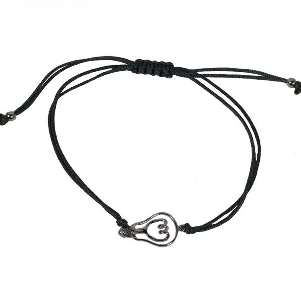 Jt Silver handmade men's light bulb bracelet