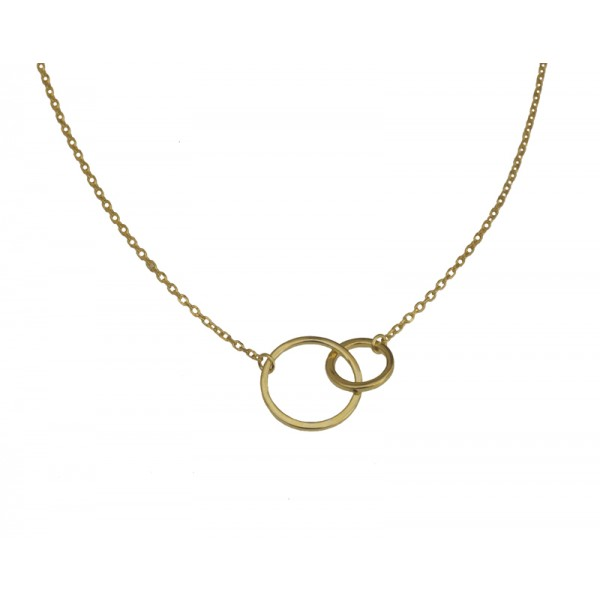 Jt Gold plated silver double Circle of Life necklace