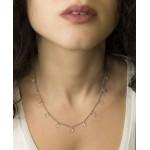 Jt Sterling Silver Tranparent Swarovski Necklace