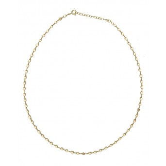 Jt Gold plated silver small cubes chain necklace