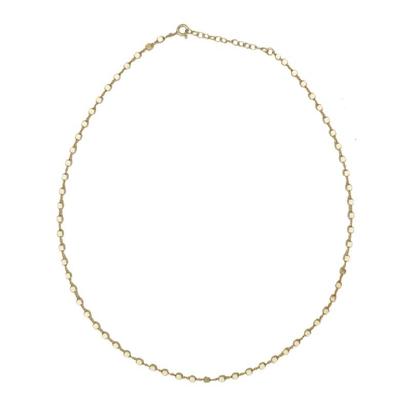 1d62d7914b Jt Ασημένιο χρυσό κολιέ αλυσίδα λεπτοί κύβοι