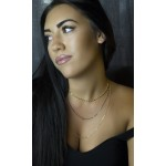 Jt Gold plated silver chains layered necklace