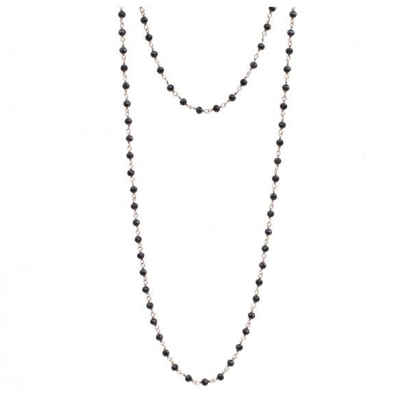 Jt Rose gold silver link chain spinel necklaces