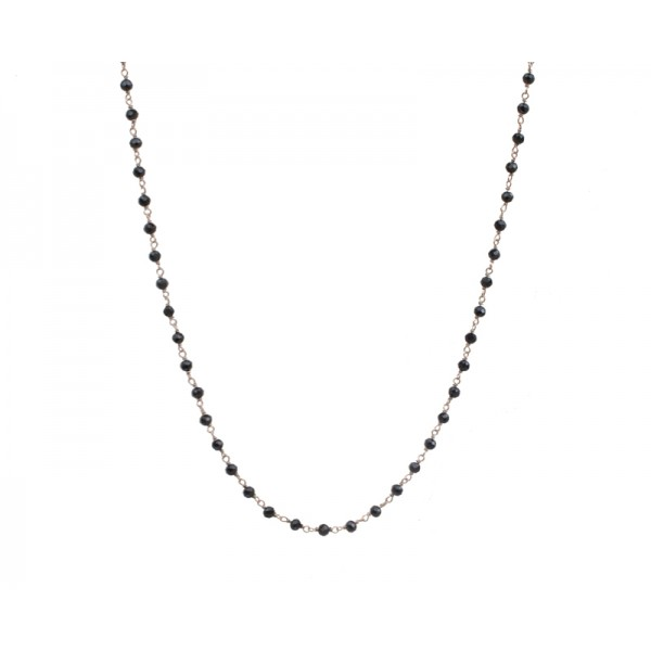 Jt Rose gold silver link chain spinel long necklace