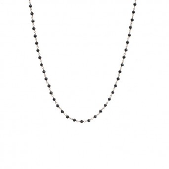 Jt Rose gold silver link chain spinel necklace