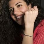 Jt Silver black bracelet 'νονα' with hematites