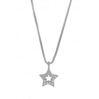 Jt Sterling silver little star necklace