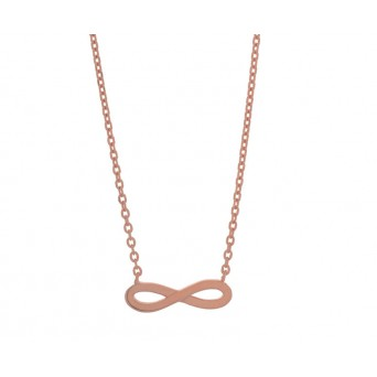 Jt Rose silver chain infinity necklace