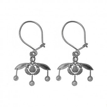 Jt Oxidized Silver Greek Minoan Bees Earrings