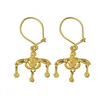 Jt Gold Plated Silver Greek Minoan Bees Earrings
