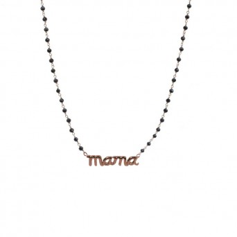 Jt Rose gold silver link chain mama necklace
