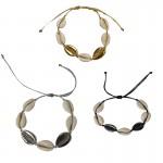 Jt Bronze set with seashells bracelets