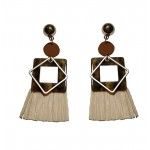 Jt Gold plated animal print boho earrings