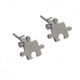 VFJ Sterling Silver Puzzle Earrings