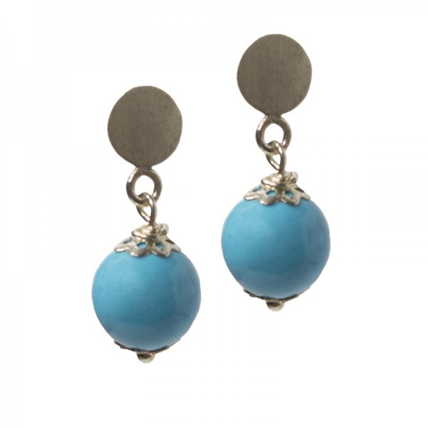 Jt Silver hanging earrings turquoise