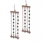 Jt Silver hanging boho earrings