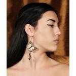 Jt Pearls and Swarovski silver single butterfly earrings