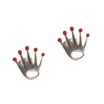 Jt Steel Stud Earrings Crown