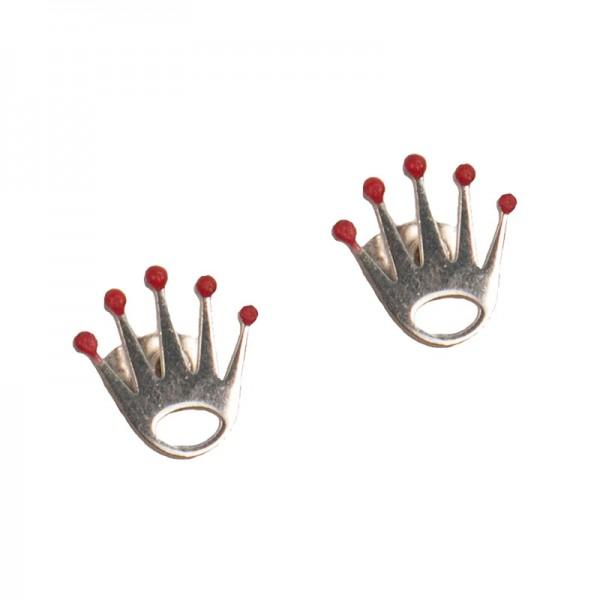 Jt Stainlees Steel Stud Earrings Crown
